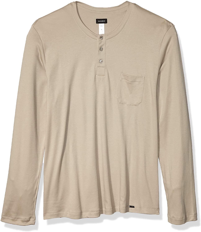 HANRO Men's Loran Long Sleeve Henley Shirt