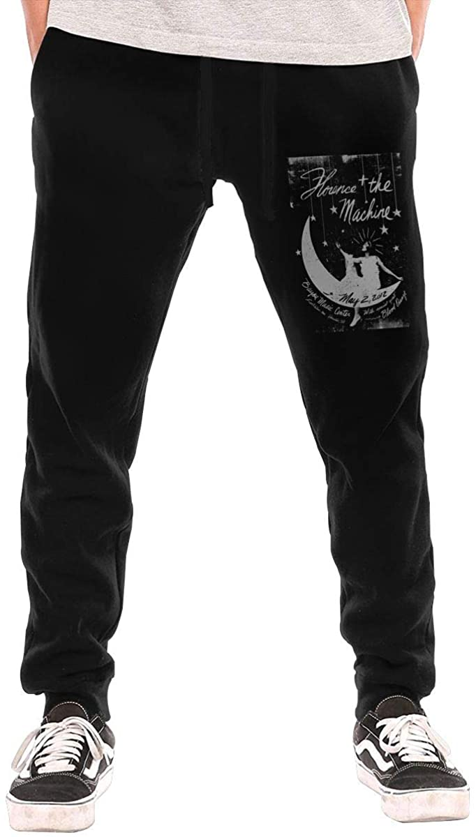 Suwei Florence and The Machine Men's Casual Jogger Drawstring Waist Long Sweatpants with Pockets