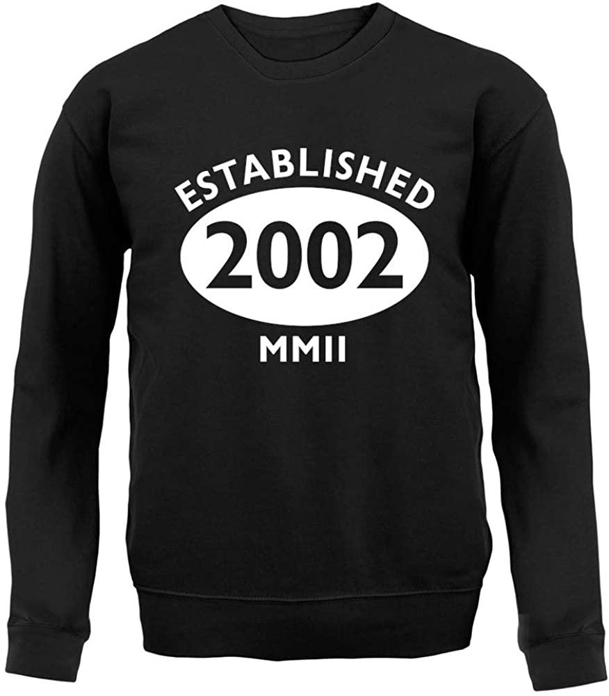 Dressdown Established 2002 18th Birthday - Unisex Crewneck Sweater/Jumper