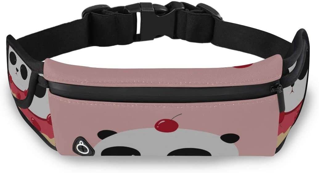 Giant Panda Delicious Cake Boys Fanny Pack Fashion Bag For Kids Womens Waist Pack With Adjustable Strap For Workout Traveling Running