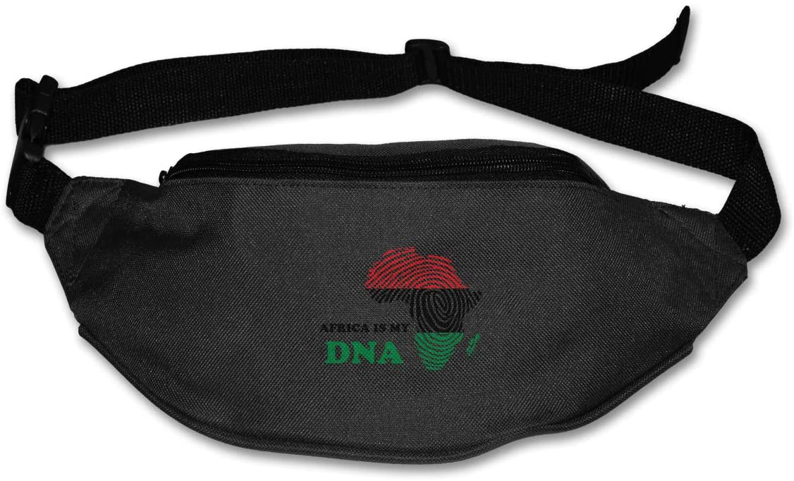 SWEET-YZ Unisex Waist Pack Africa is My DNA Flat Fanny Bag Pack for Sport Running