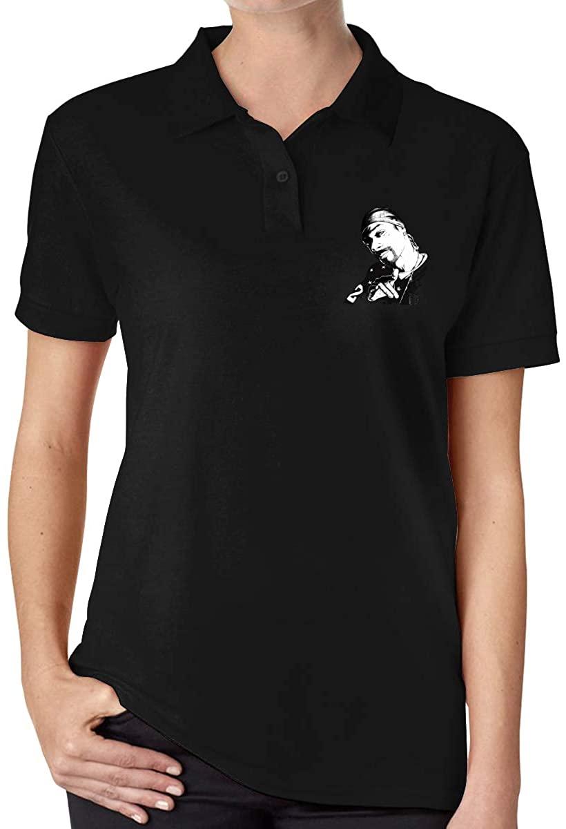 Ourjsncvns Snoop Dogg Women's Regular-Fit Cotton Polo Shirt