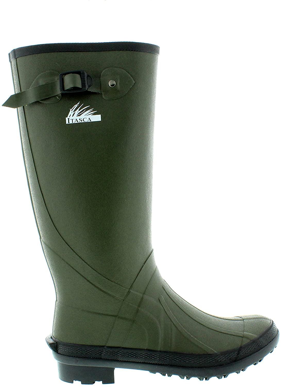 Itasca Men's Waterproof Swampwalker Classic Chore Removable Liner Rain Boot