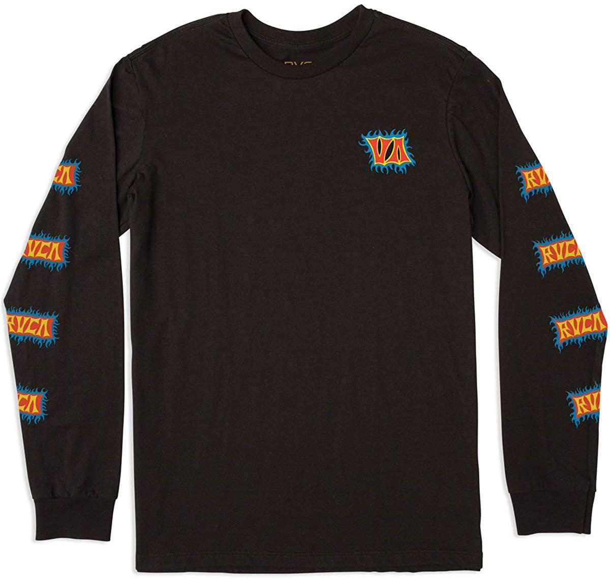 RVCA Boys' Big Crawling Long Sleeve Crew Neck T-Shirt