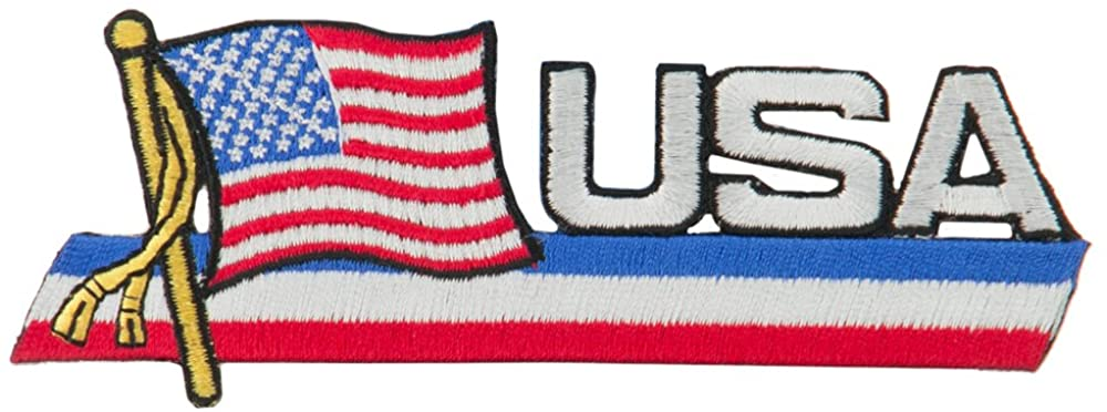 North America Cutout Embroidered Patches - USA