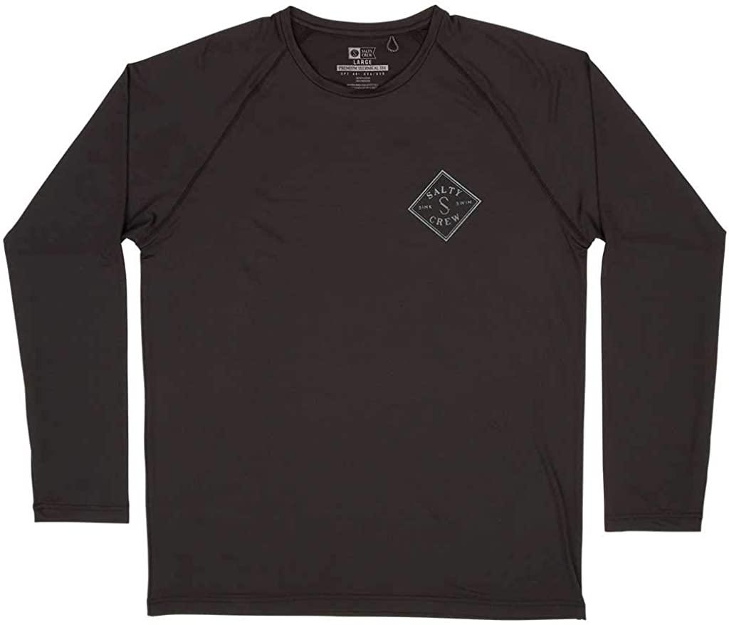 Salty Crew Tippet Pinnacle LS Surf Shirt - Black