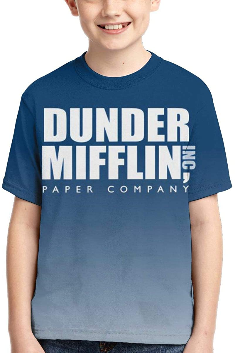 Wehoiweh Unisex Young T Shirt Dunder Mifflin Paper Child Shirts Tees