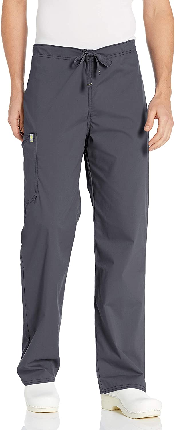 Code Happy Men's Bliss W/Certainty Drawstring Scrub Cargo Pant, Pewter, X-Small/Short