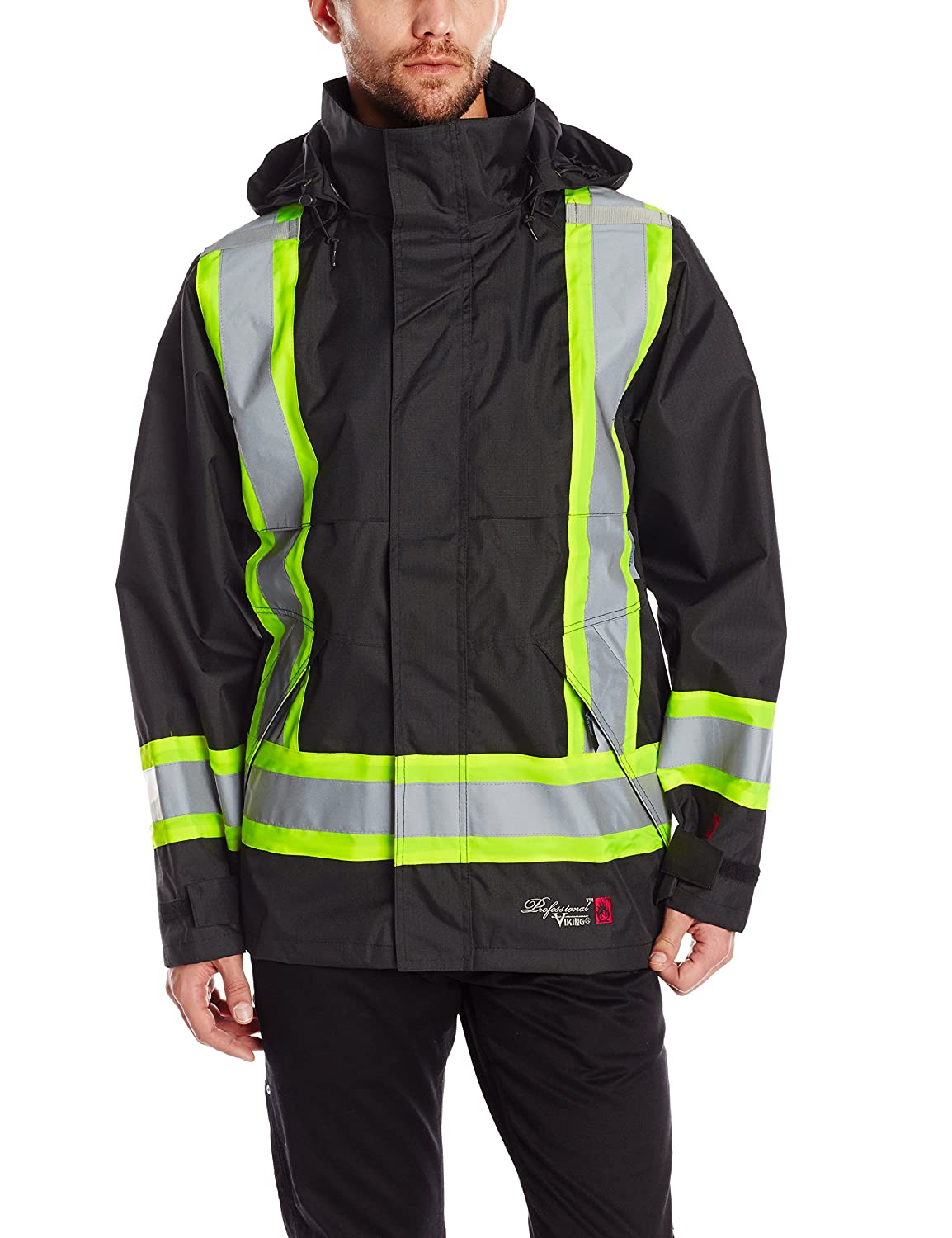 Viking Professional Journeyman FR Waterproof Flame Resistant Jacket, Black, Small