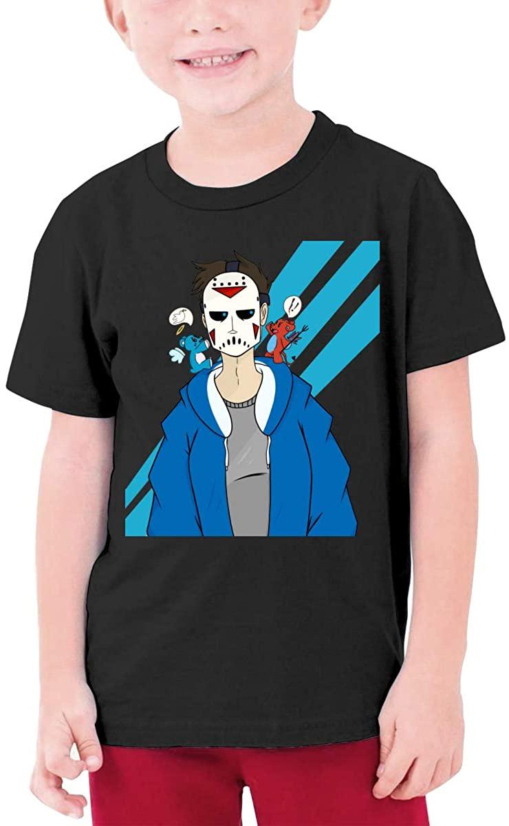 Boys and Girls Teens Short Sleeve T-Shirt H2o Delirious Unique Retro Design Black