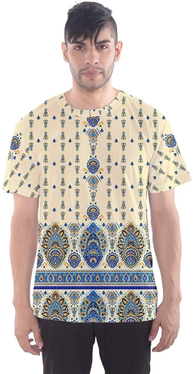CowCow Mens Plus Size Shirt Colorful Navajo Aztec Pattern Mens Sport Mesh Tee XS - 5XL