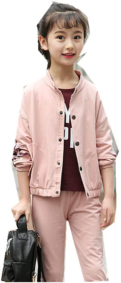 MV Girls Autumn Big Boy Hipster Girl Sportswear Children's Three-Piece Kids Suit