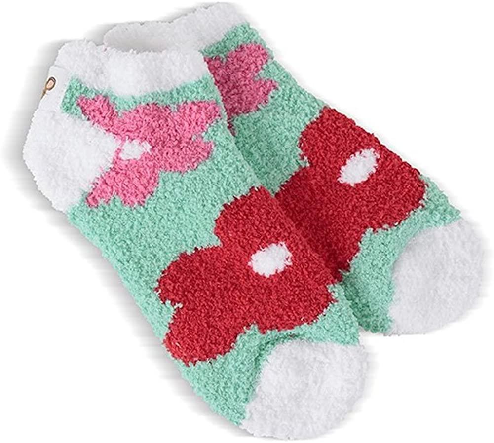 Mouse Creek The Snug Collection Cozy low Socks (1-2 Shoe Size, Tulip)