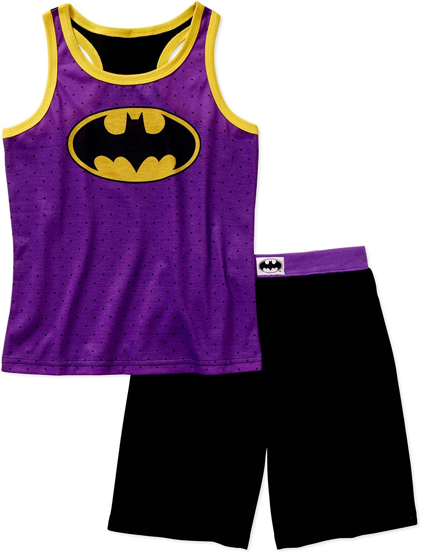 DC Comics Batgirl Girls 2 Piece Tank and Shorts Pajama Set