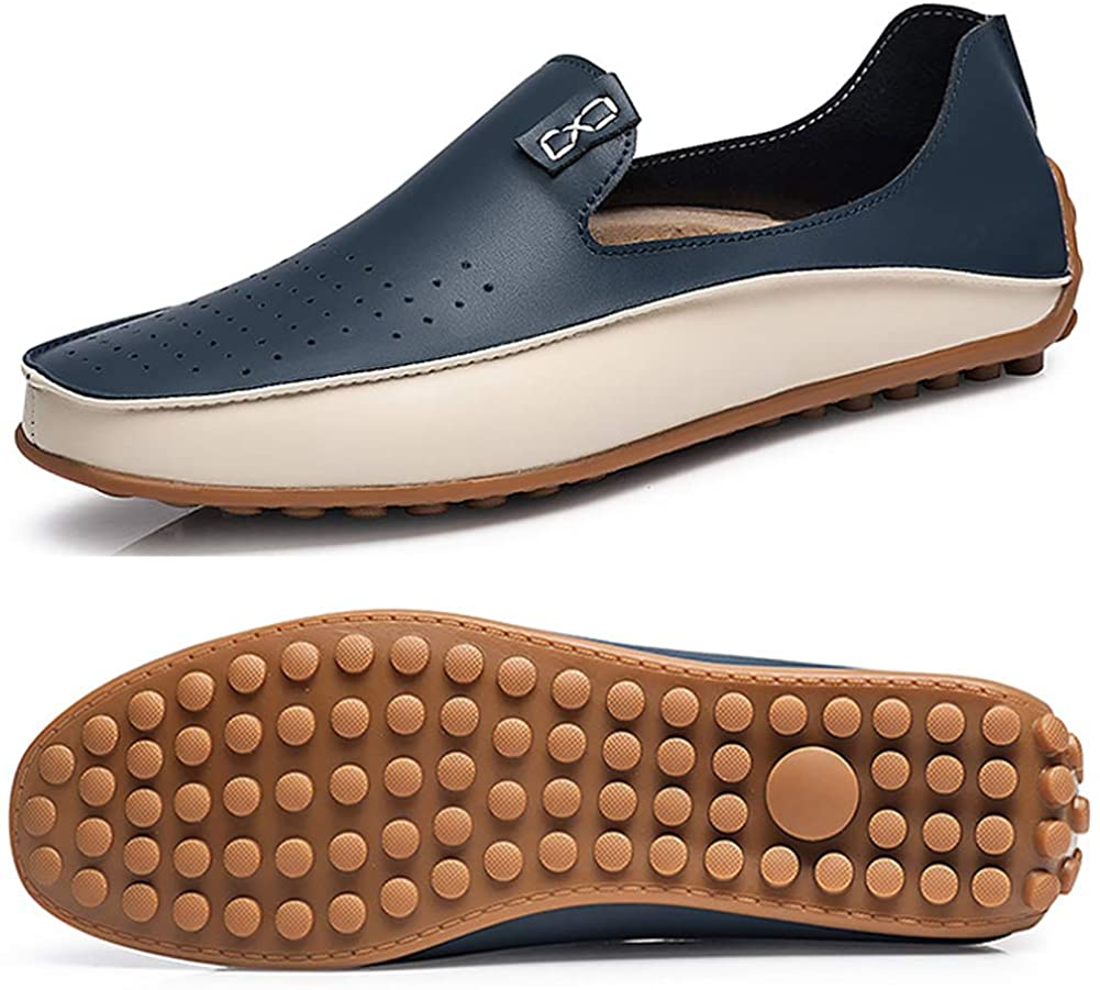 Men's Driving Shoes Light Leather Loafers for Men Fashion Slip on Casual Moccasins Shoe