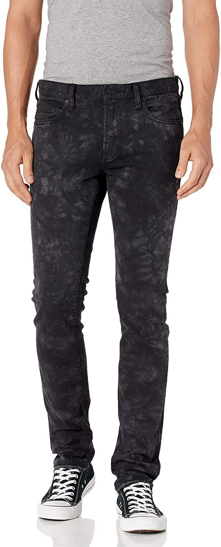 John Varvatos Star USA Men's Wight Skinny FIT Straight Leg Jean, Black, 30
