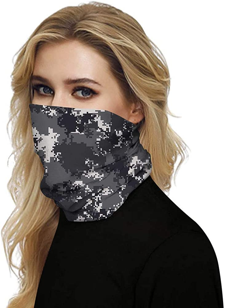 Susclude 3D Starry Print Seamless Bandana for Men Women Summer Neck Gaiter Magic Face Scarf Headwear