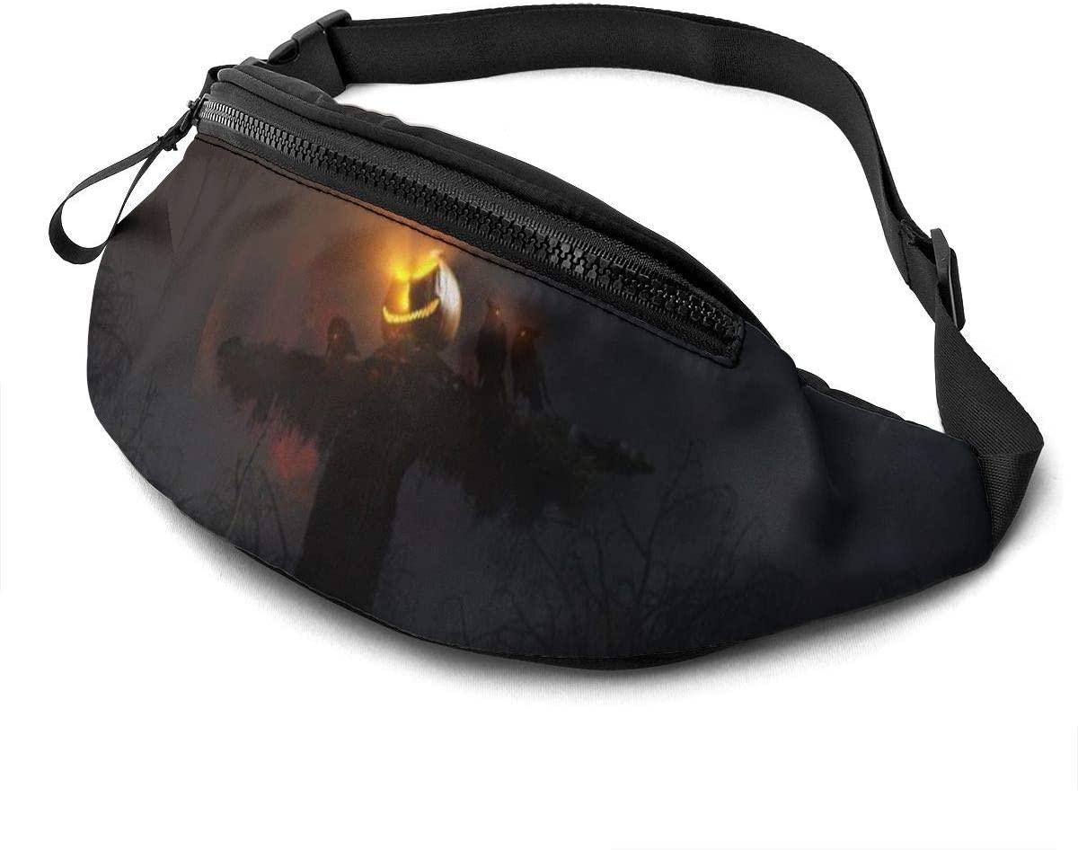 Halloween Scary Pumpkin Lights Fanny Pack Fashion Waist Bag