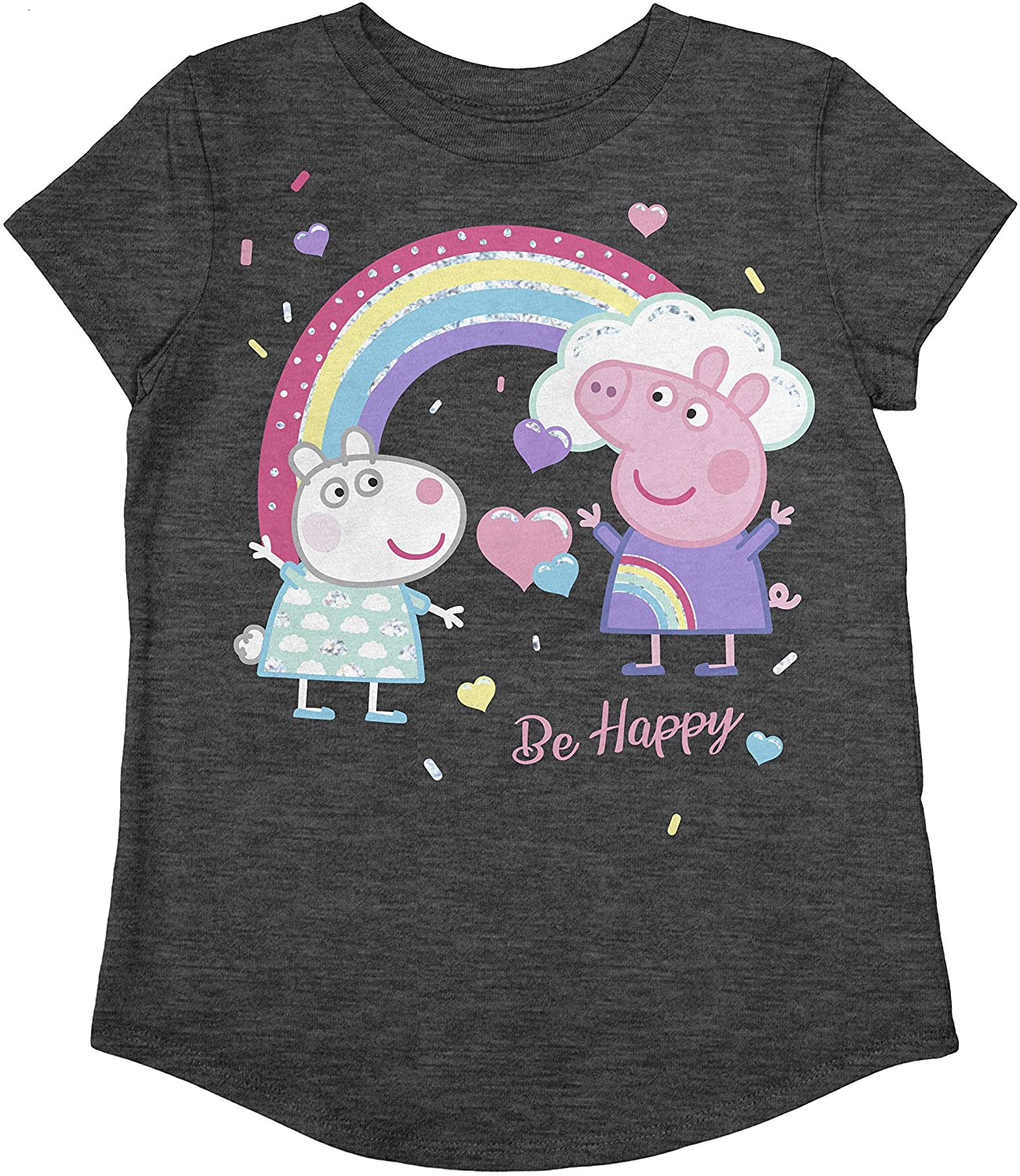 Jumping Beans Toddler Girls Peppa Pig Be Happy SS Tee