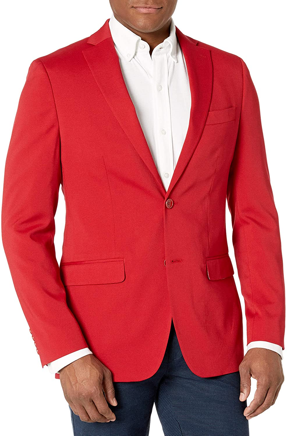 IZOD Men's Varsity Blazer, Red, 36R