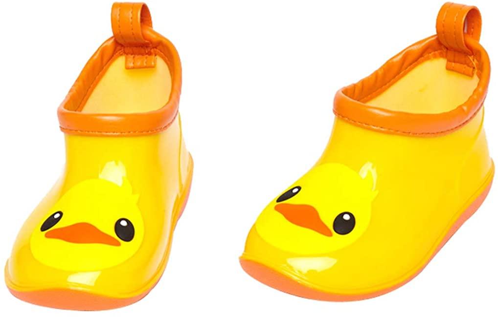 C'wait Girls Boys Cute Soft Waterproof Rubber Rain Boots Shoes