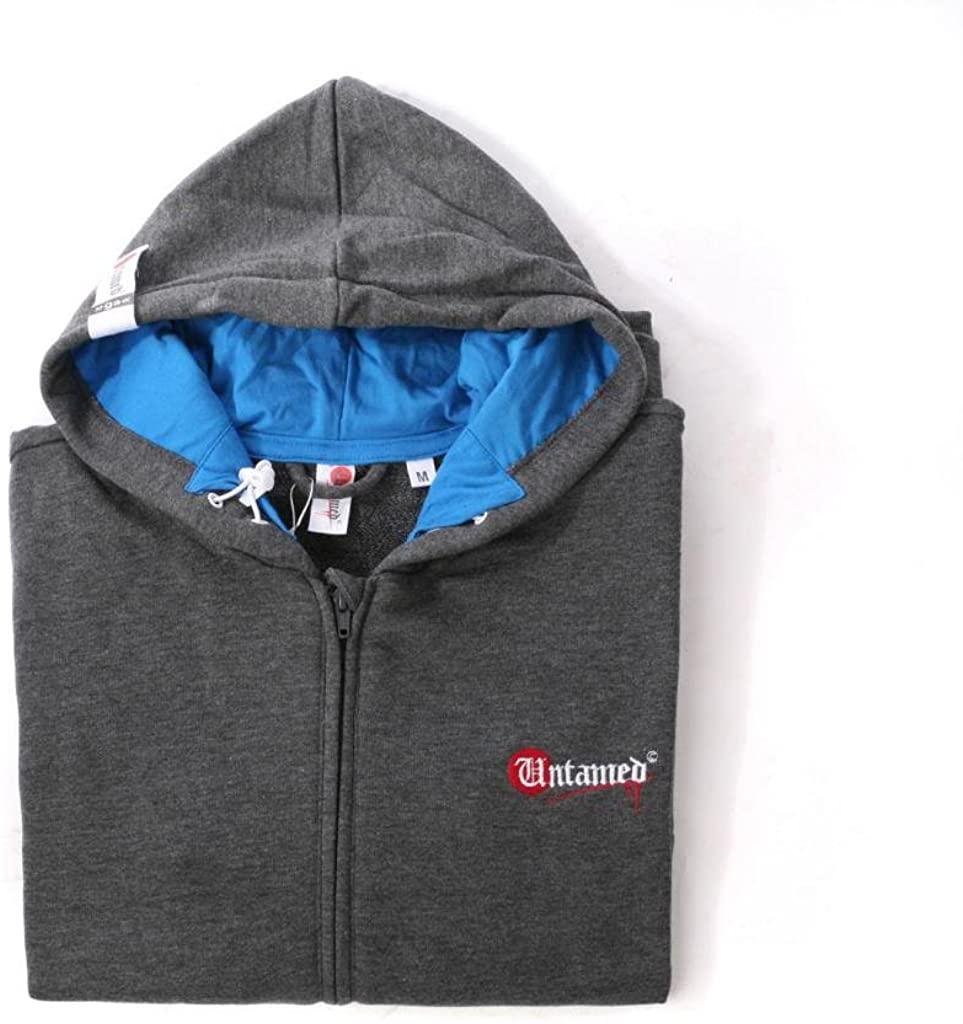 Untamed Mens Parkour Hooded Sweatshirt S Charcoal