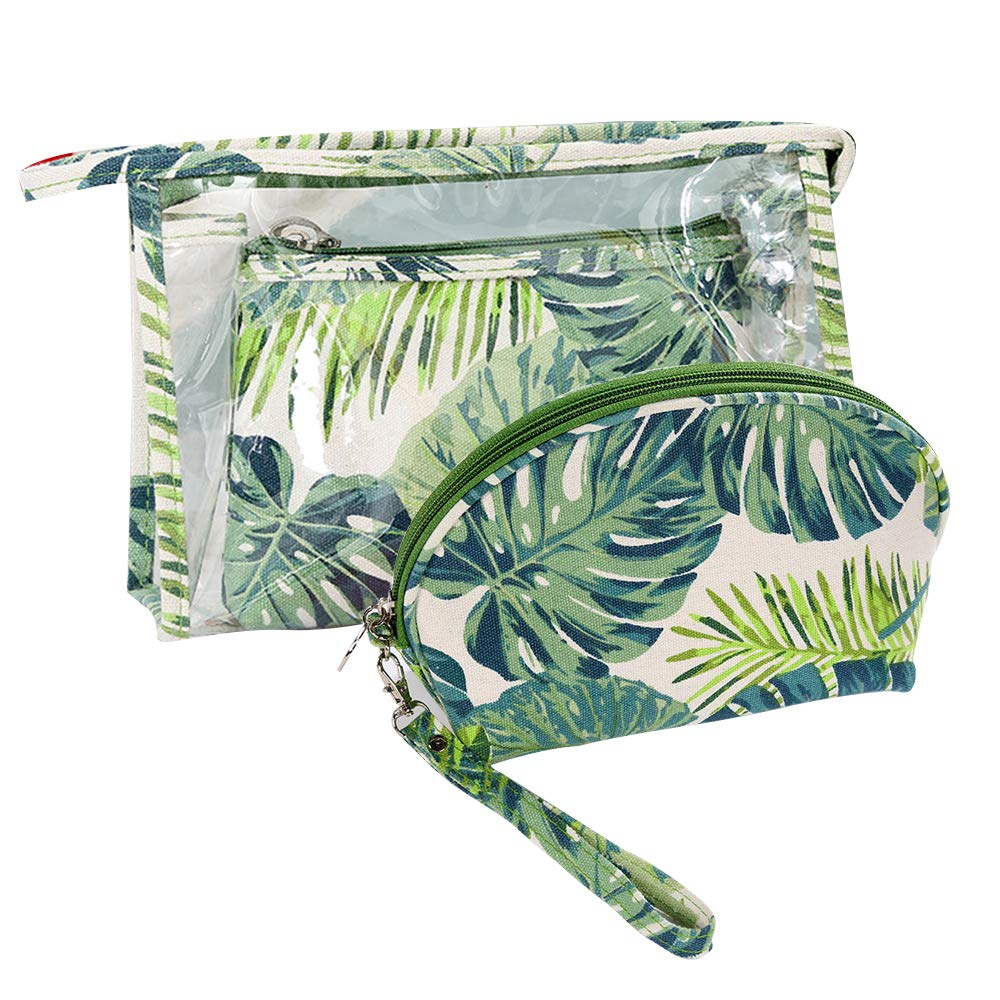 WMZYIQI Multifunctional Transparent Makeup Bag Hanging Toiletry Bag Waterproof Cosmetic Bags Travel Set for Women with Large Capacity (Forest)