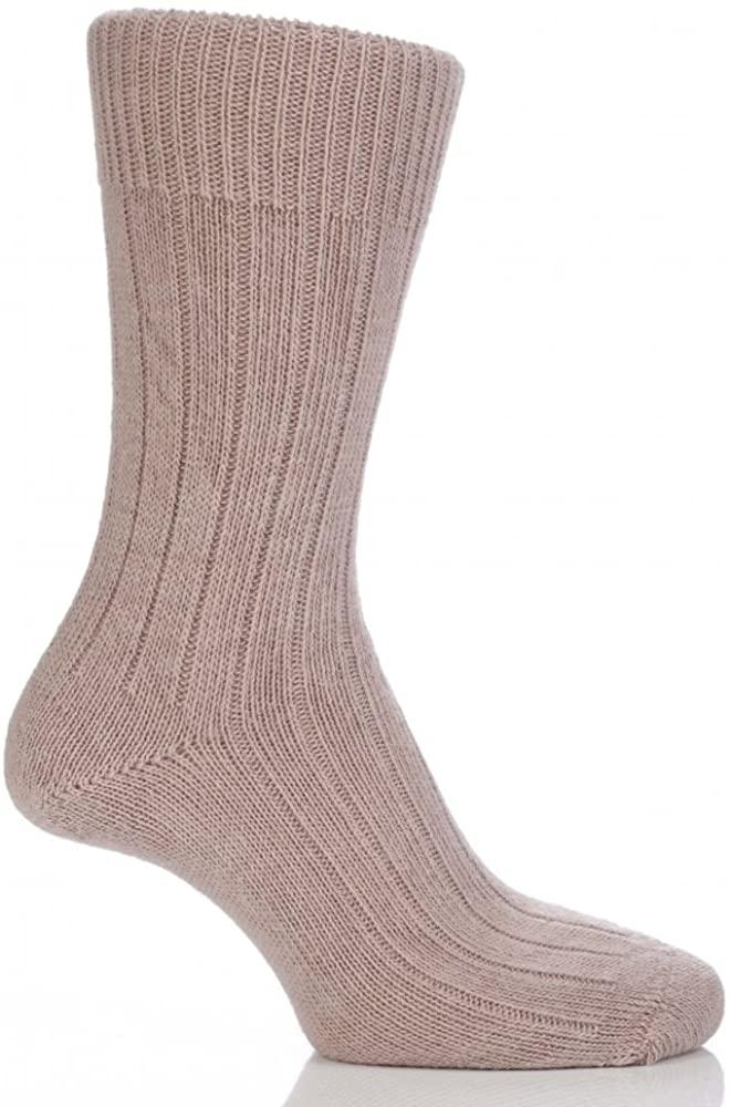 SockShop of London Men's & Women's 1 Pair Alpaca Bed Socks in Toffee