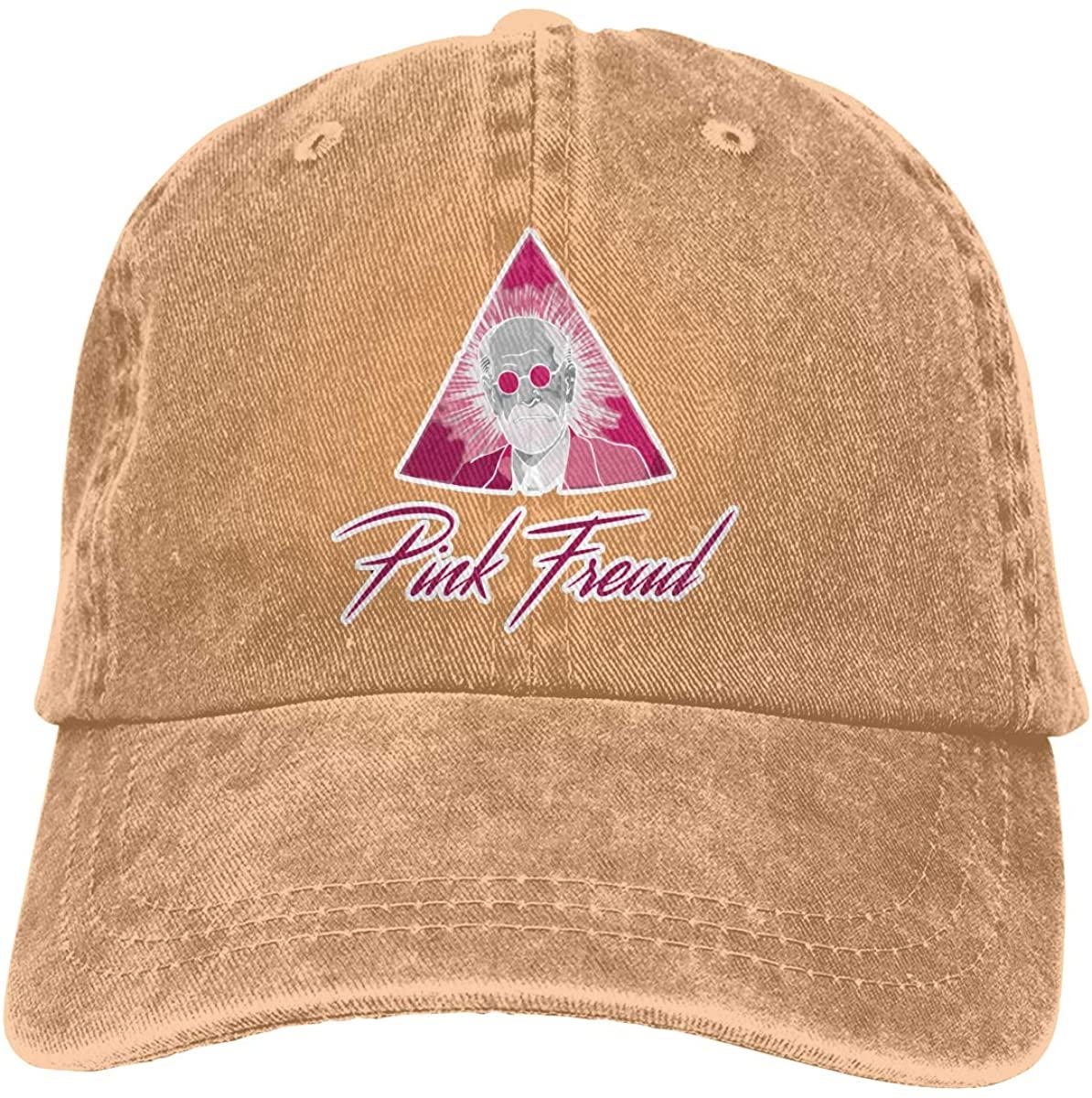 Nanobibi Pink Freud Baseball Caps Mens Womens Adult Adjustable Cowboy Hat Casquette Black