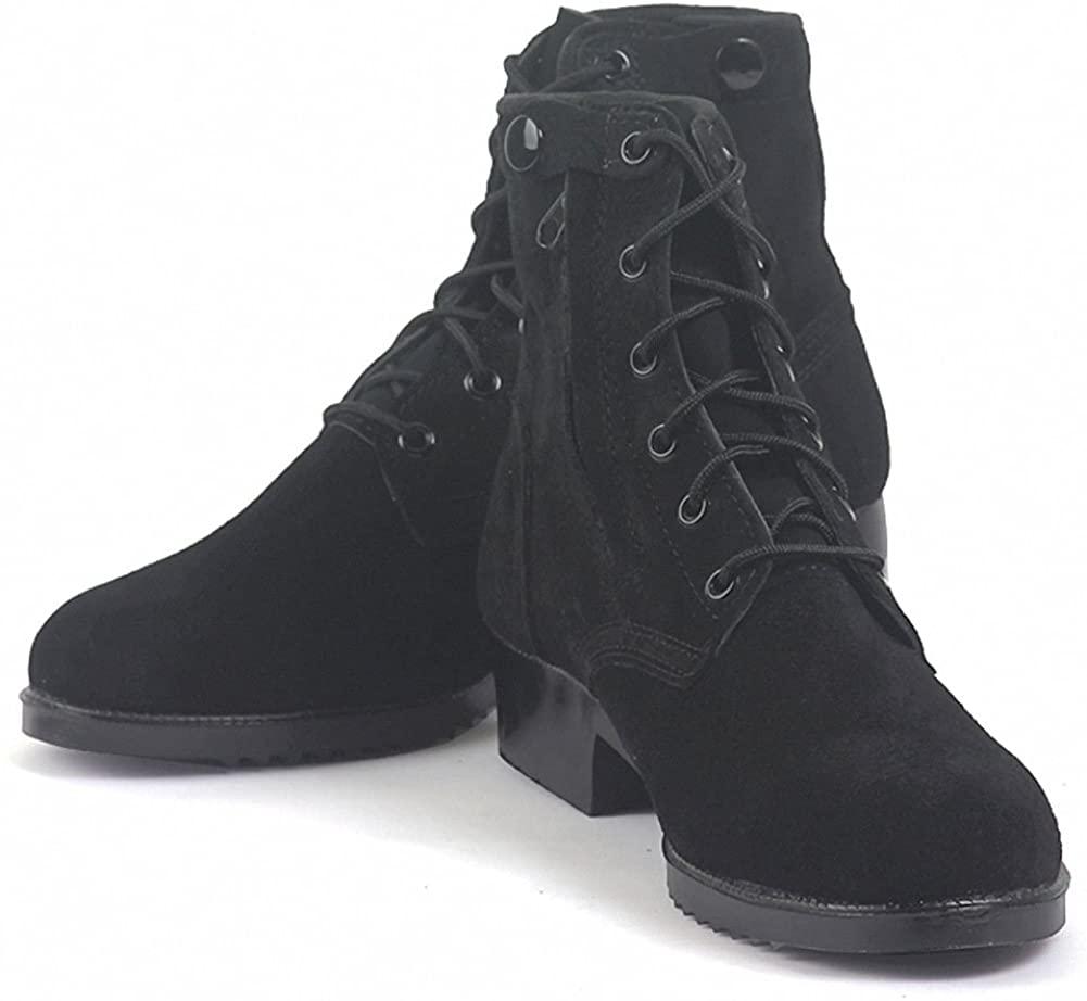 Men's Tactical Military Combat Boots Suede Short Black TX-13A