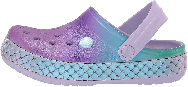 Crocs Kids Preschool Crocband Mermaid Metallic Clog | Slip on Water Shoes for Girls, Boys