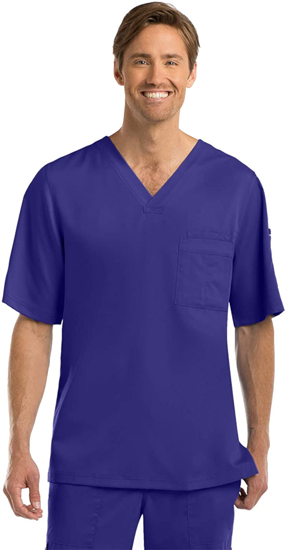 Grey's Anatomy 0103 Men's V-Neck Top Purple Rain 4XL