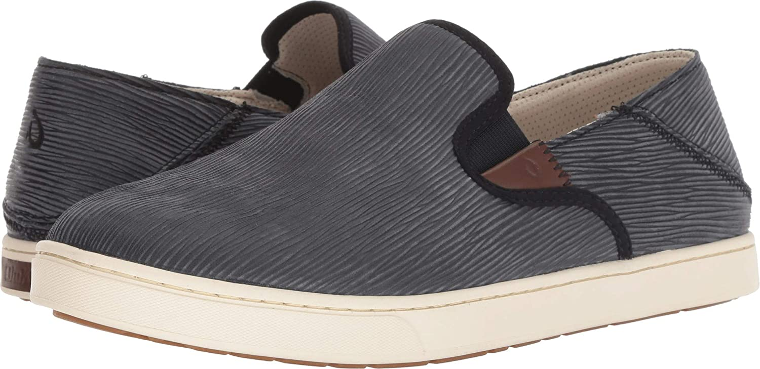 OLUKAI Men's Kahu Kai Ankle-High Leather Slip-On Shoes