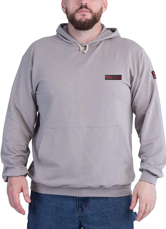 Titicaca FR Sweatshirt Lightweight Long Sleeve 7.5oz 100% Cotton Men's Pre-Washed Henley Hoodie Shirt