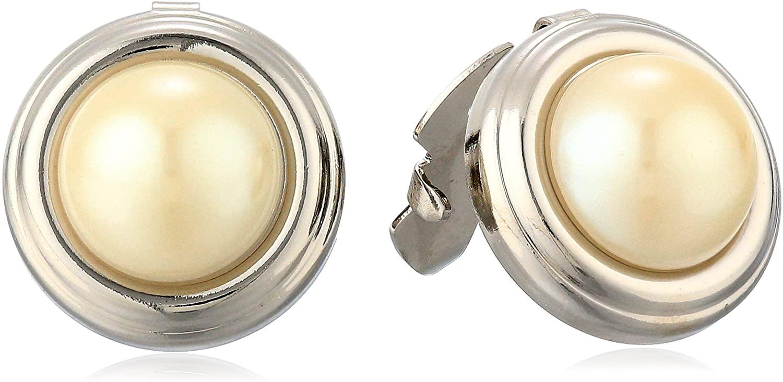 1928 Jewelry Unisex Semi-Precious River Stone Round Button Covers