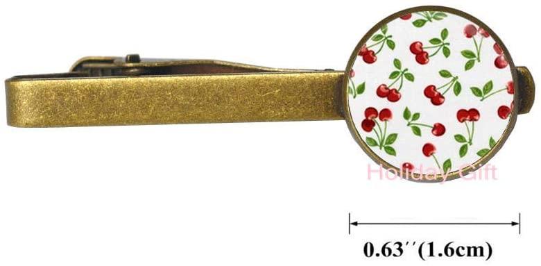 Cherry Tie Clip Jewelry Tie Pin Tie Clip Glass Cabochon Tie Clip Art Photo Dome Tie Pin Tie Clip.HTY-138