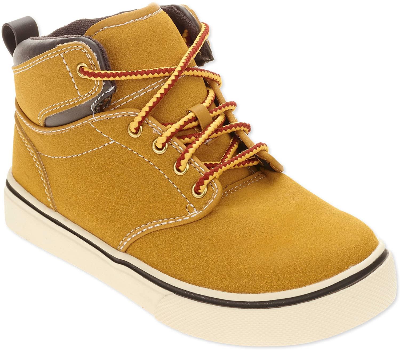 Faded Glory Boys Casual Hi Top Shoe, Fashion Skate Sneakers