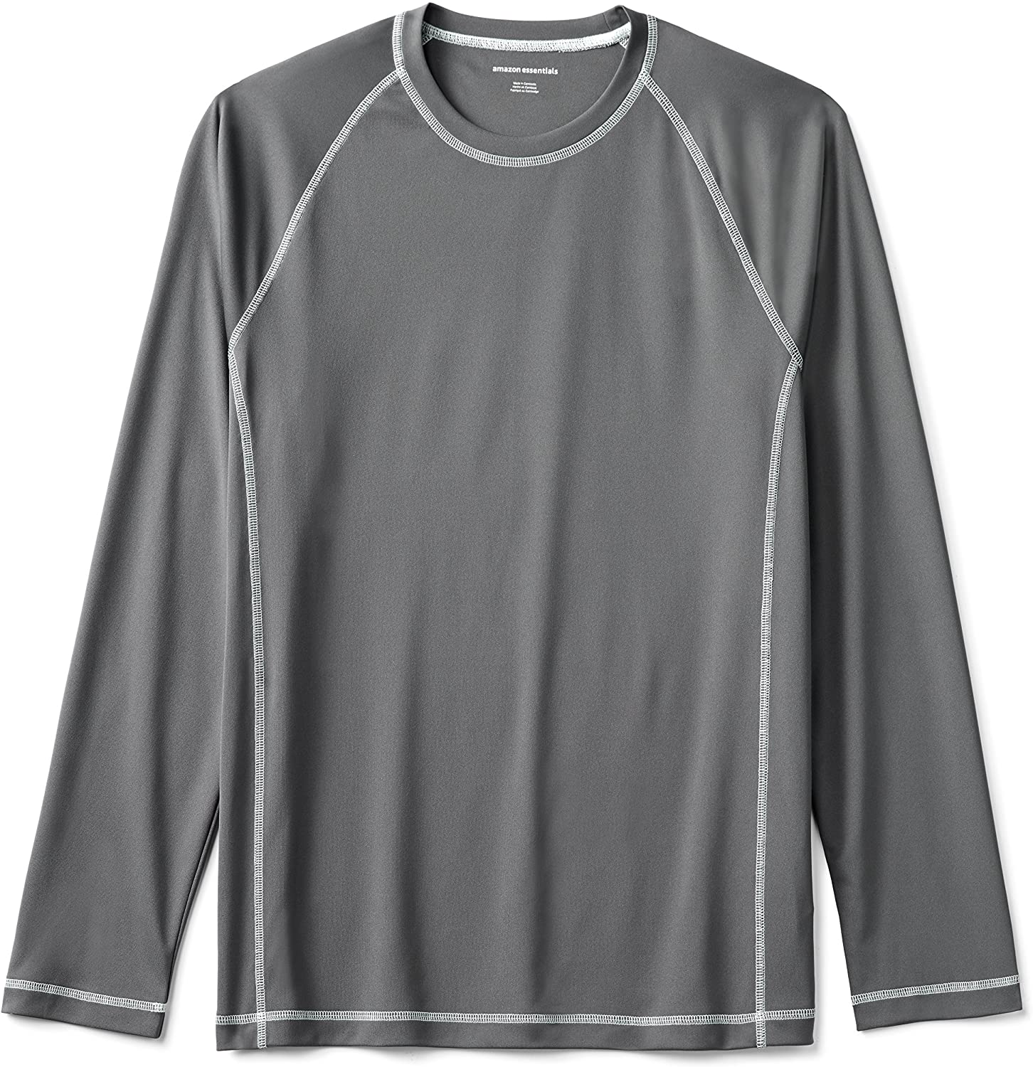 DHgate Essentials Men's Long-Sleeve Loose-Fit Quick-Dry UPF 50 Swim Tee