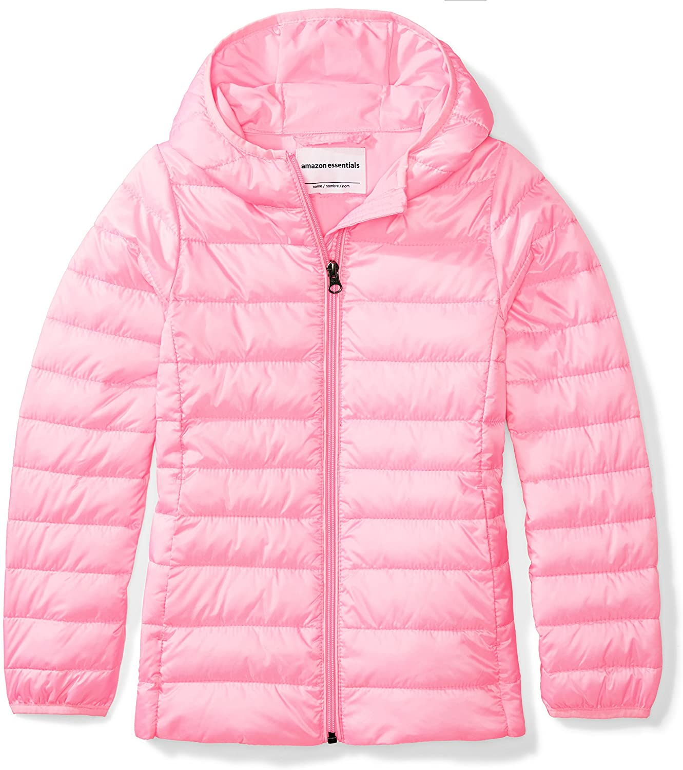 DHgate Essentials Girl's Lightweight Water-Resistant Packable Hooded Puffer Jacket