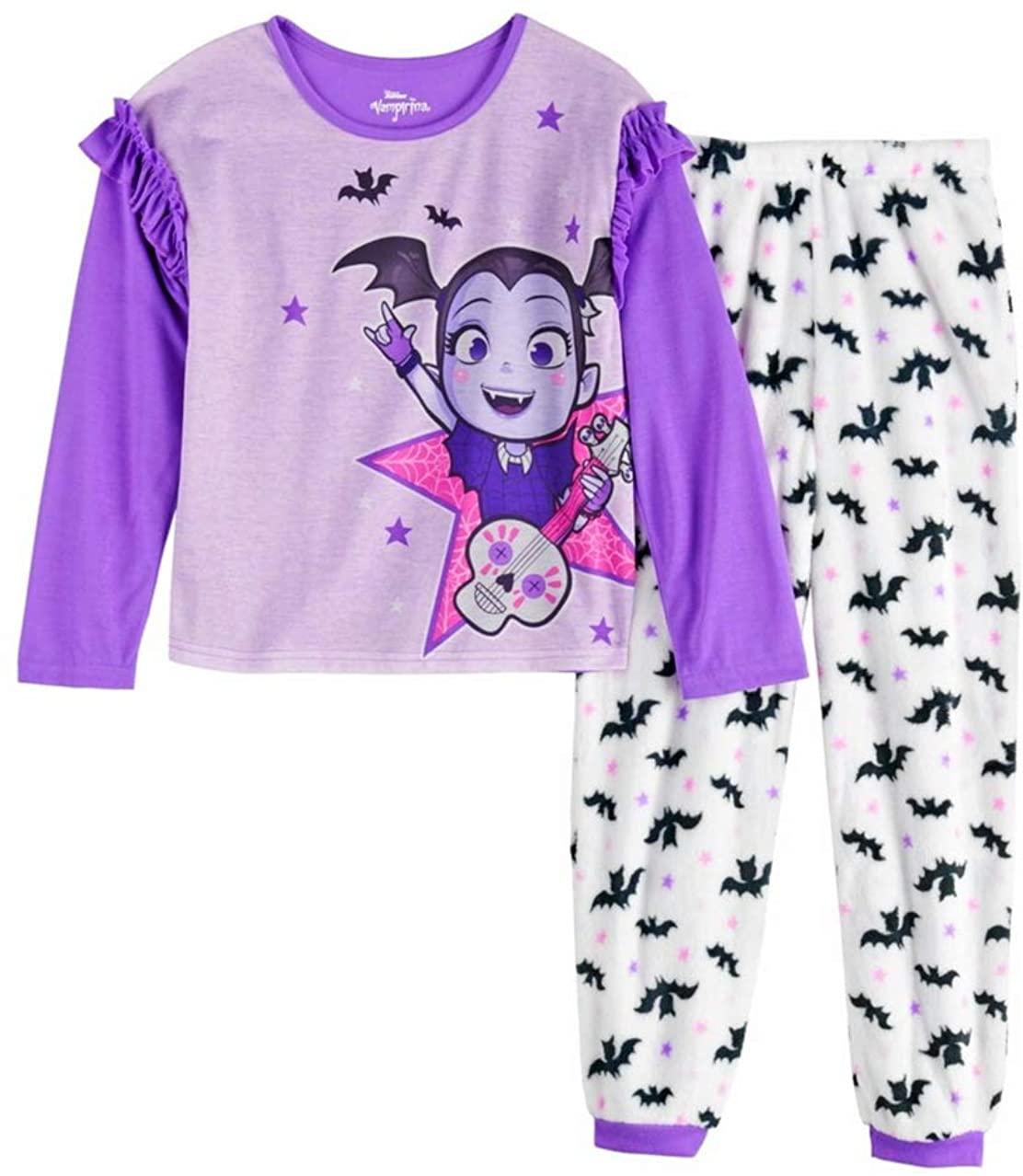 Disney Vampirina Girls Top & Plush Bottom Pajama Set