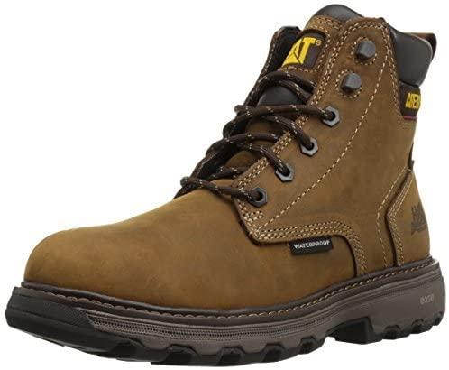 Caterpillar Men's Precision Waterproof / Dark Brown Work Boot