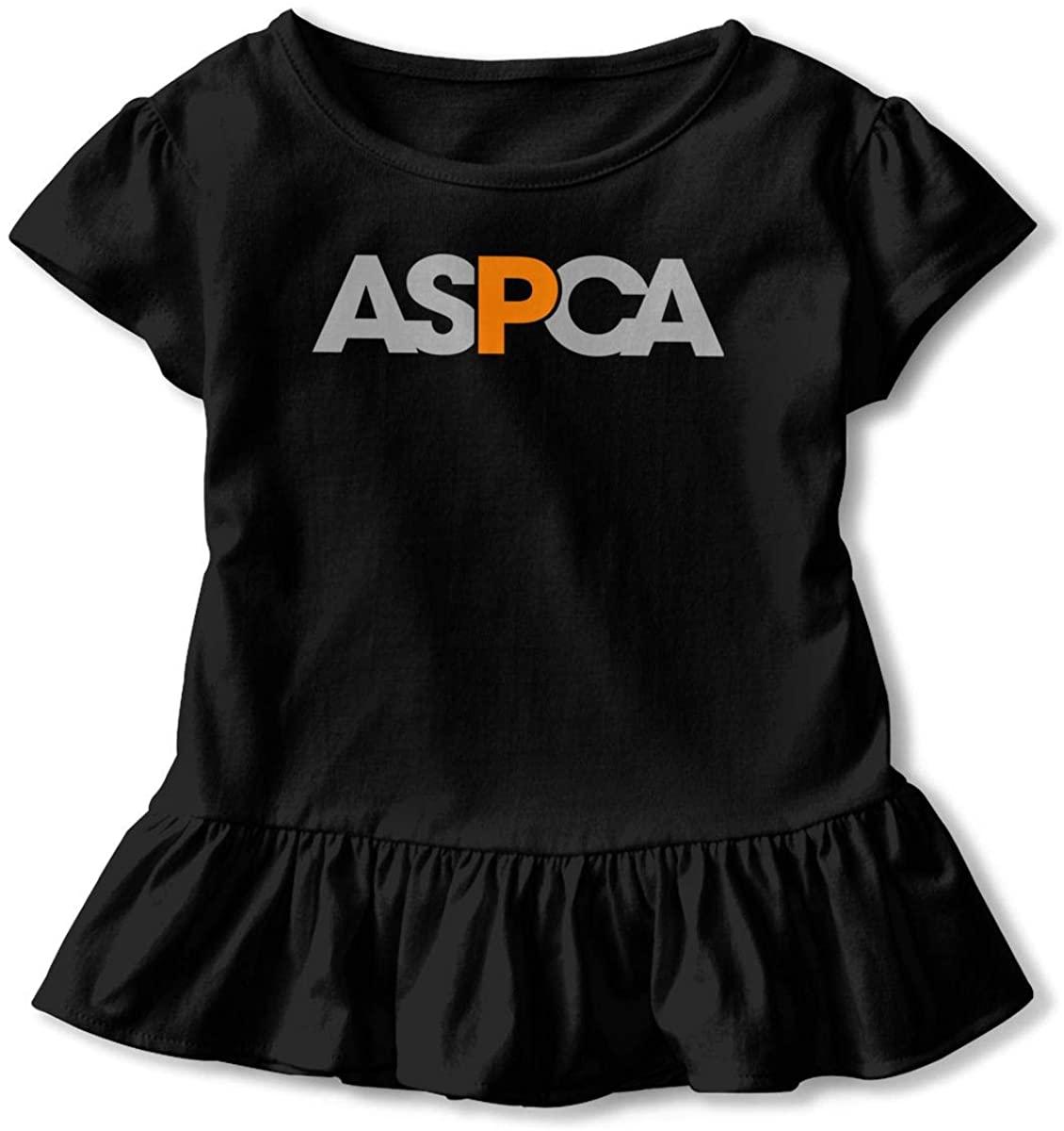 AP.Room ASPCA Toddler Girl's Ruffle T-Shirt Short Sleeve 2-6t