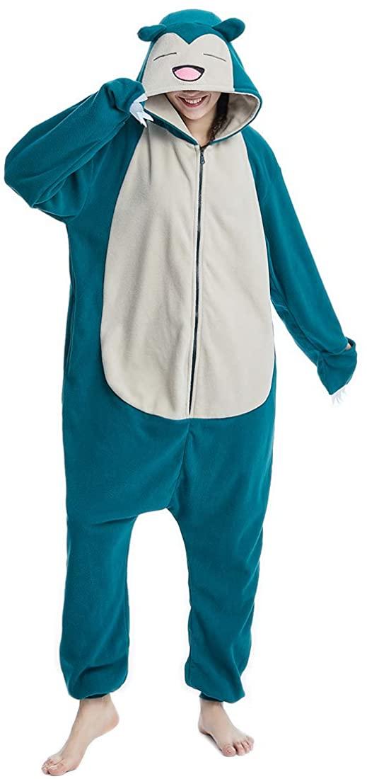 Adult Snorlax Onesies Animal Homewear Sleepwear Costumes Pajamas for Men Women