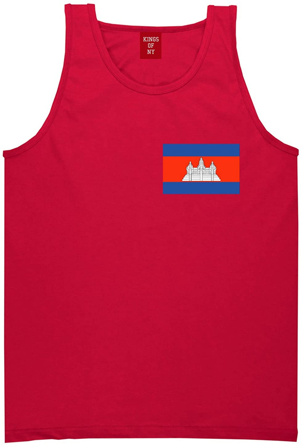 Kings Of NY Cambodia Flag Country Chest Tank Top Shirt