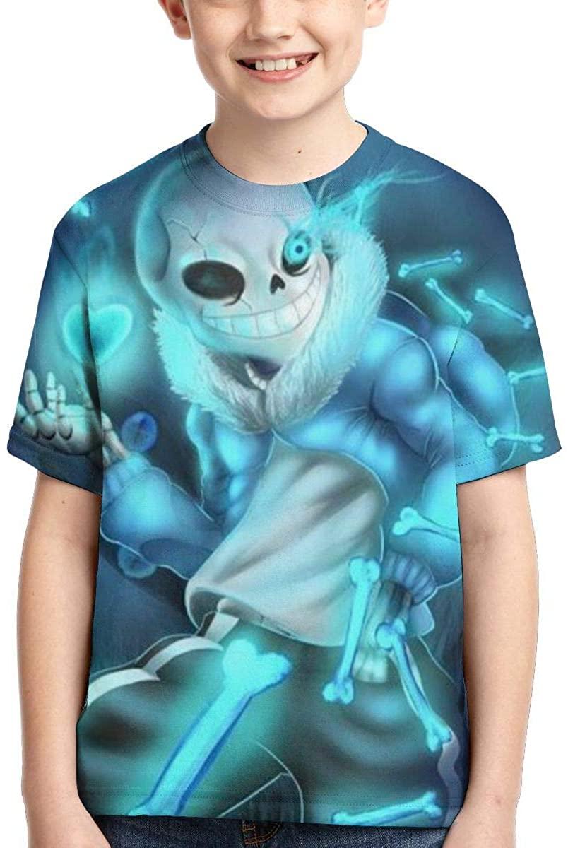 Joseph L Hurwitz Undertale Youth T-Shirt Fashion Anime Shirt Boys and Girls Funny Children Short-Sleeved T-Shirt