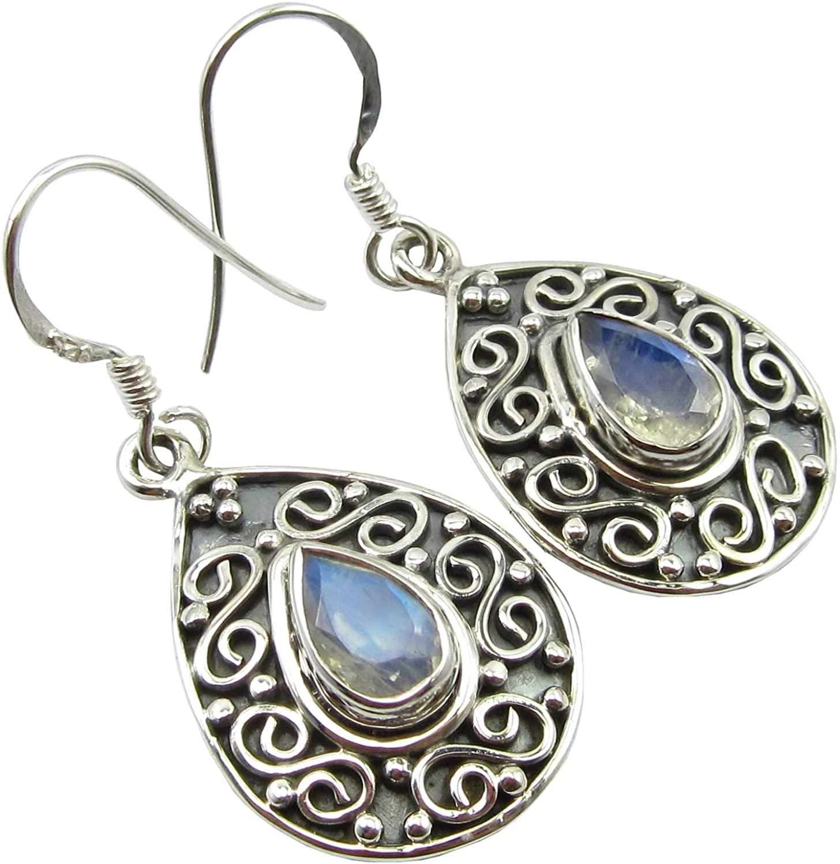 SilverStarJewel 925 Sterling Silver Labradorite Earrings 1.5 5.6 Grams New Stone