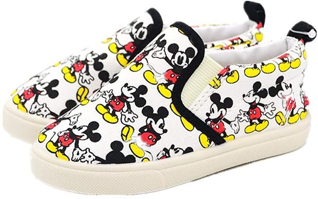 Disney Shoes Mickey Mouse Kid Loafer Canvas Boy Sneaker for School Sport Cartoon