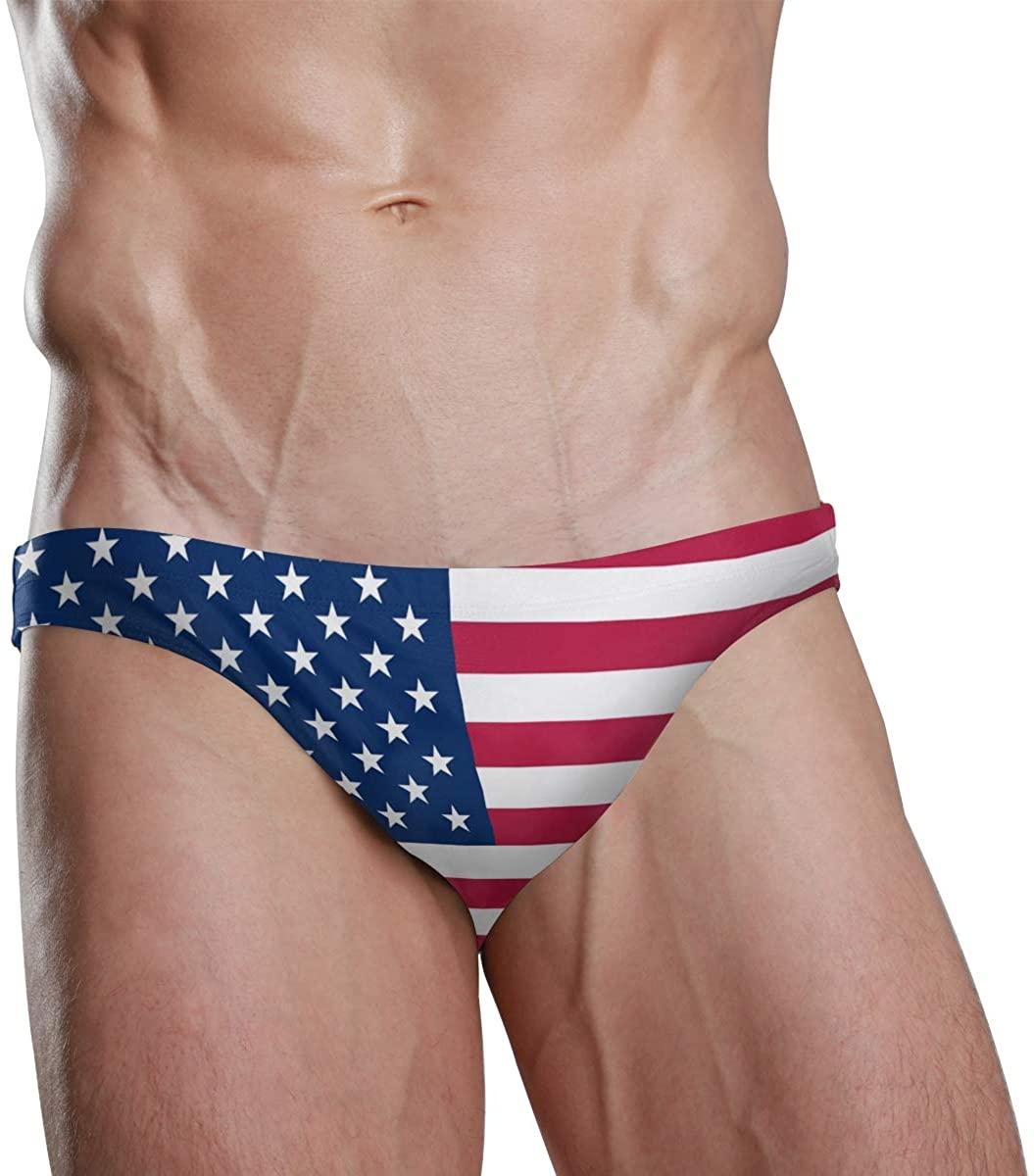 Sexy Swim Brief Bikini National Flag Beach Athletic Swimwear Briefs Sports