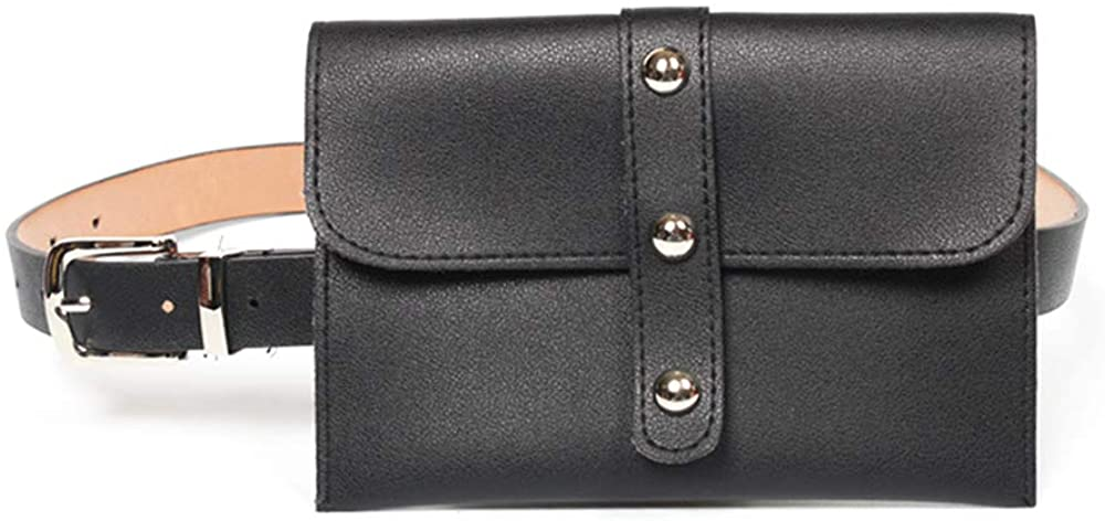 Women Leather Fanny Pack,VITORIA'S GIFT Removable Belt With MINI Purse Travel Cell Phone Bag