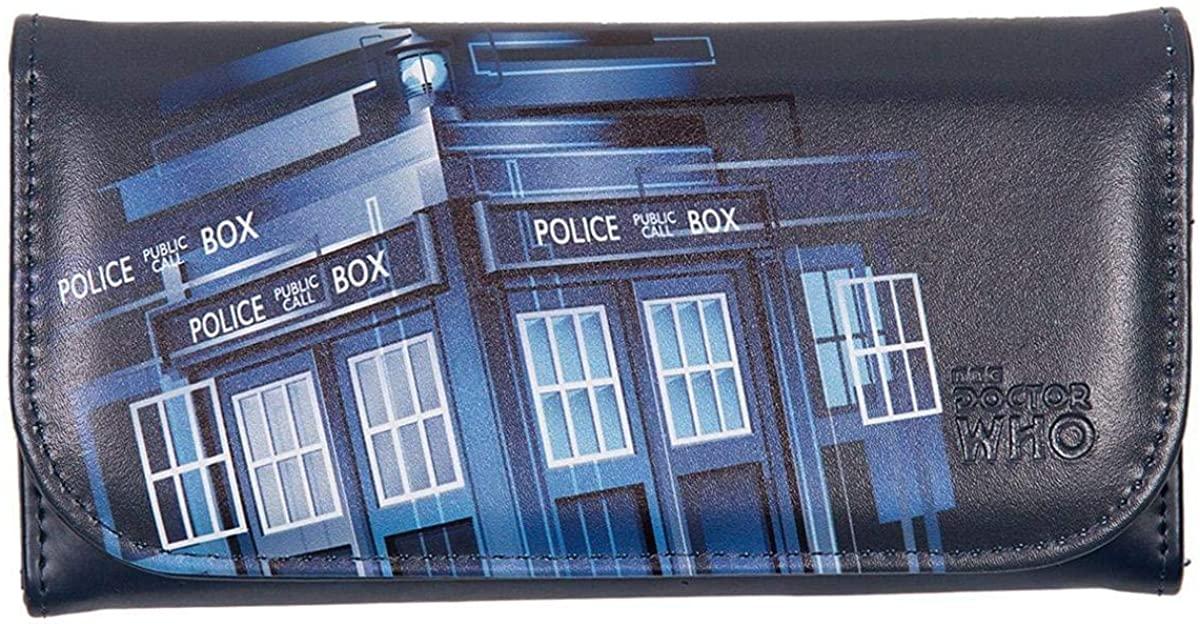 Doctor Who Purse - Embossed Women's Wallet - Gradient TARDIS Design